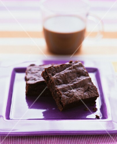 Brownies and a cup of cocoa