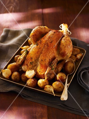 Chicken with roast potatoes