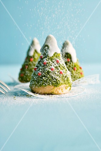Sweet Christmas tree cakes