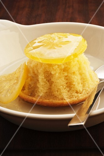 Steamed lemon pudding