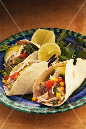 Tacos with chicken and sweetcorn