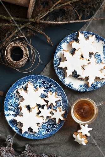 Biscuits in the shape of snowflakes