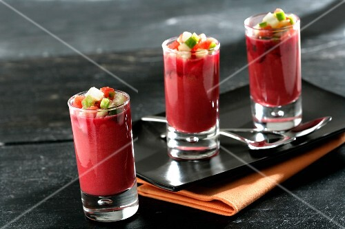 Gazpacho with beetroot