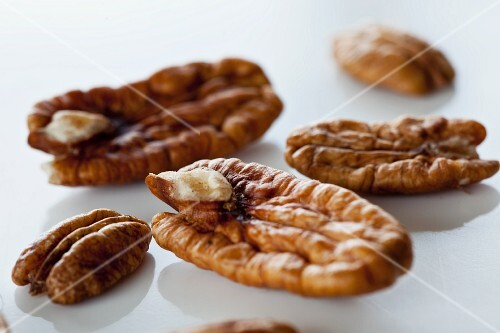 Pecan nuts, close-up