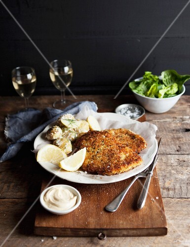Breaded chicken escalope