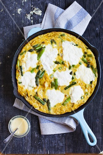 Frittata with Asparagus, Ricotta and Herbs