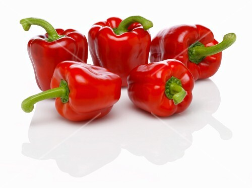 Five red peppers