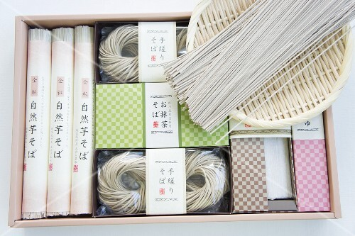 Assorted soba noodles from Japan