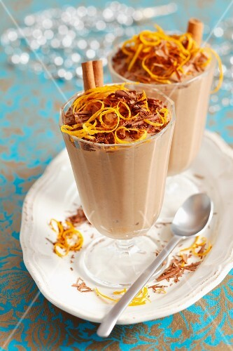 Chocolate orange mousse for Christmas