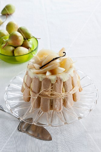 Pear and vanilla charlotte