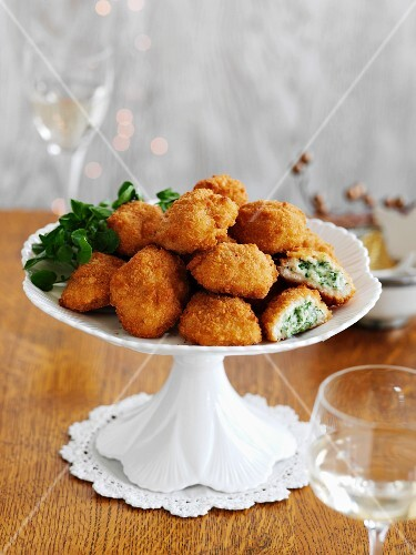 Mini-Kievs filled with chicken and parsley for Christmas