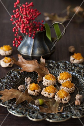 Amaranth Cookies with Pumpkin Jam