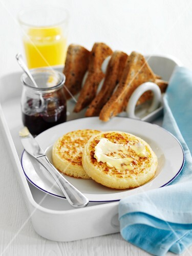 Bread Crumpets for Breakfast