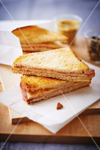 Ham and cheese toasted sandwiches