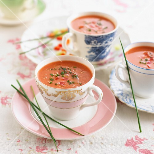 Gazpacho with chives