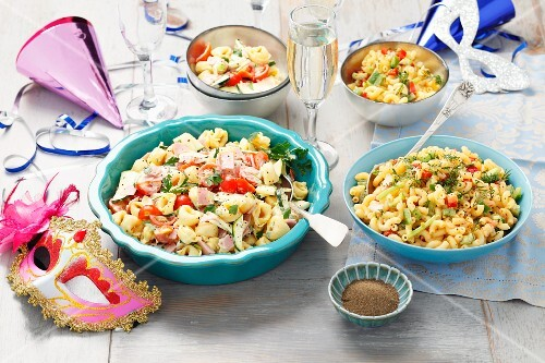 Tortellini salad and pasta salad for a party