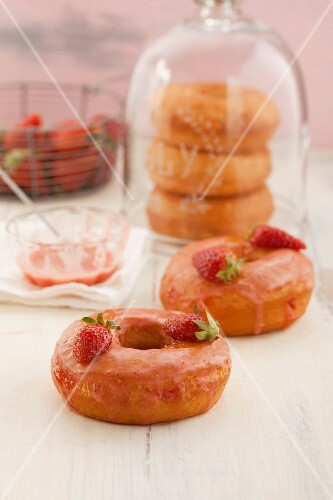 Strawberry doughnuts