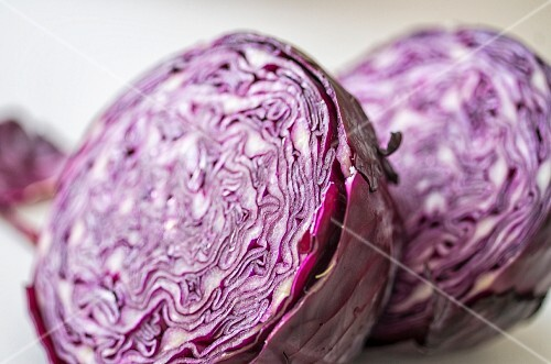 Half of a red cabbage