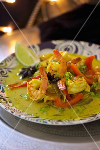 Prawn curry with vegetables