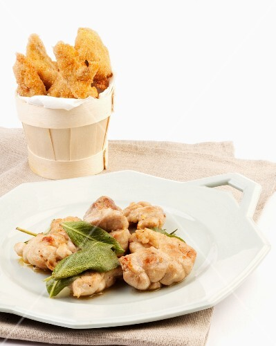 Sweetbreads, typical roman cuisine