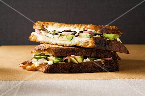 Mexican grilled cheese sandwich with avocado – StockFood