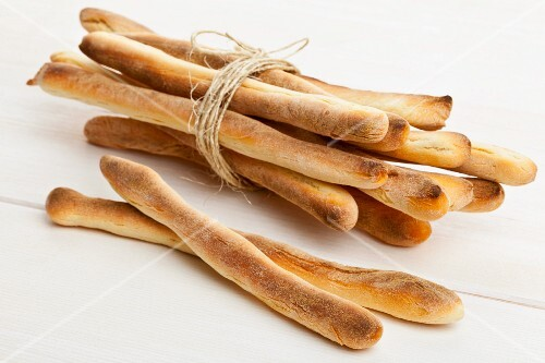Home-made grissini (Italian breadsticks)
