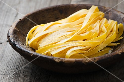 A bowl of tagliatelle