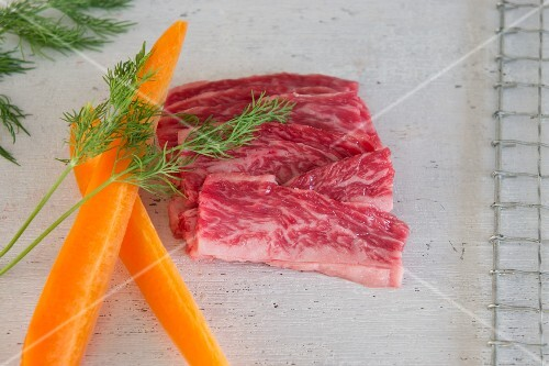 Wagyu with carrots and dill