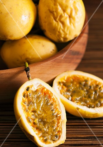 Yellow passion fruits