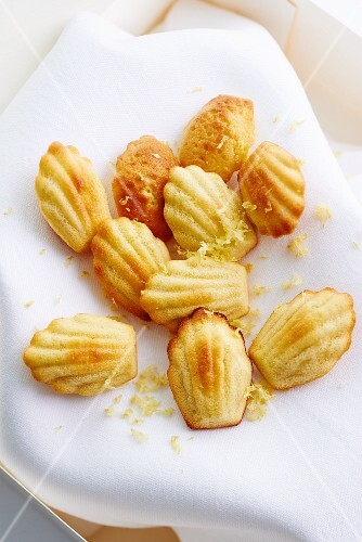 Madeleines with soy yogurt and lemon zest