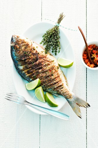 A grilled bream