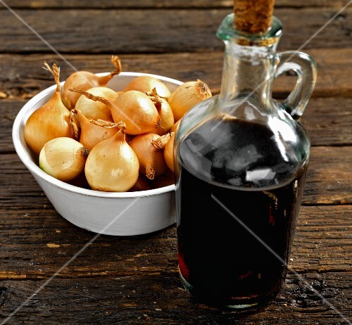 Onions and balsamic vinegar
