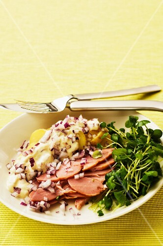 Smoked turkey breast with potato salad