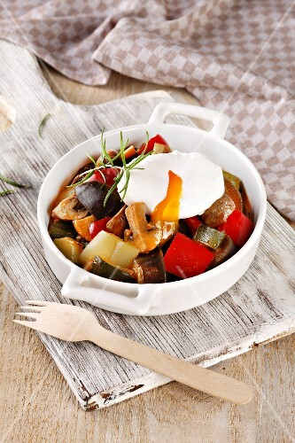 Vegetable stew with ceps