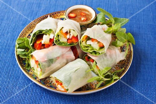 Vegetable spring rolls (vegan, gluten free)