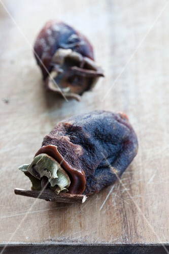 Two dried persimmons