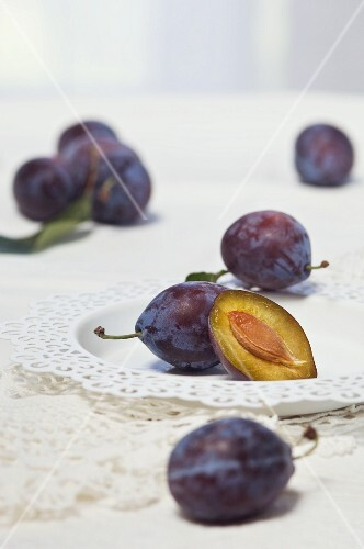 Damsons on a table