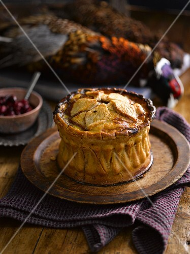 A game pie with cranberries