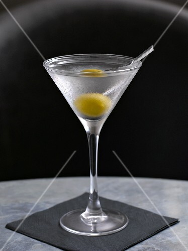 Classic Martini with Green Olive
