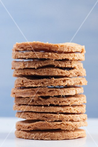 A stack of sables Breton (French biscuits)