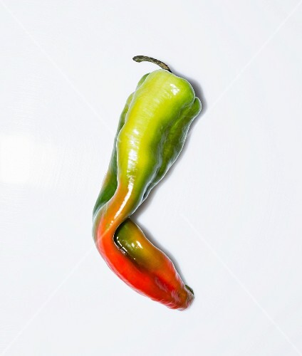 A long red and green pepper