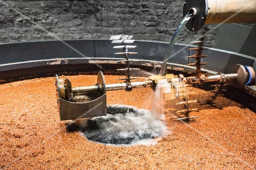 A vat to process mash to make whisky