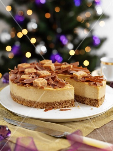 Toffee cheesecake for Christmas dinner