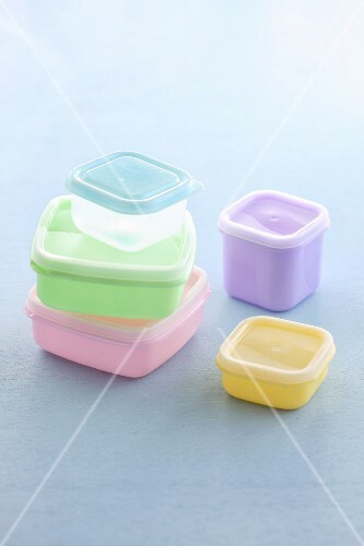 Various Tupperware boxes