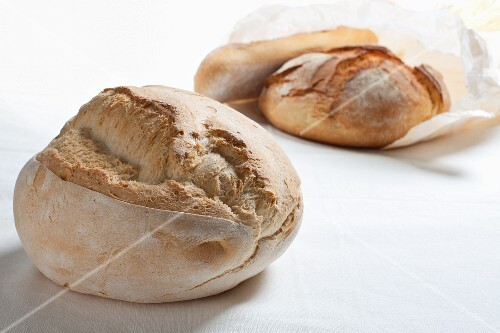 Two loaves of bread from Apulia