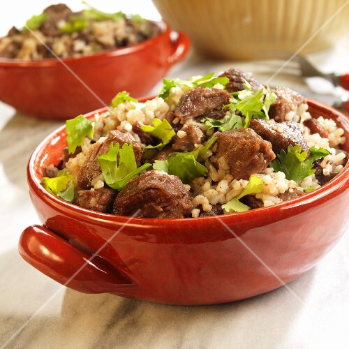 Arroz de Carreteiro (rice with beef and parsley, Brazil)
