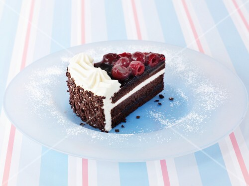 A piece of Black Forest gateau
