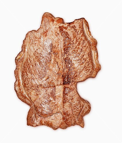 A Germany-shaped beef steak