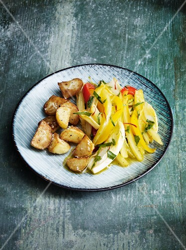 Braised saffron vegetables
