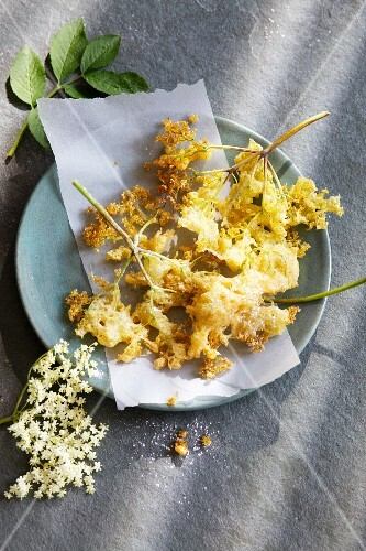 Elderflower fritter